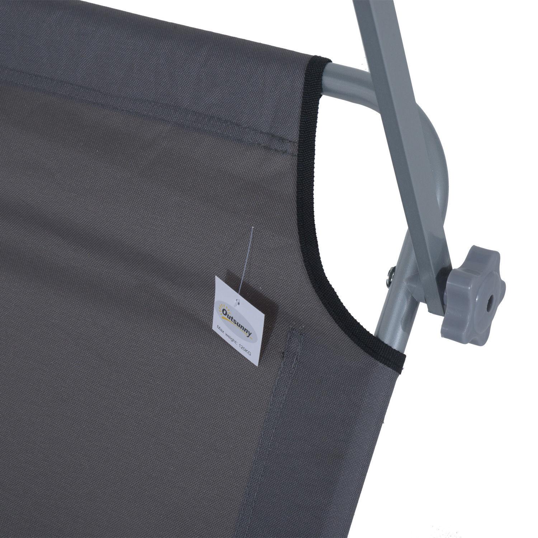 Tumbona-Inclinable-Aluminio-Plegable-Hamaca-Playa-Piscina-con-Parasol-NUEVO miniatura 10