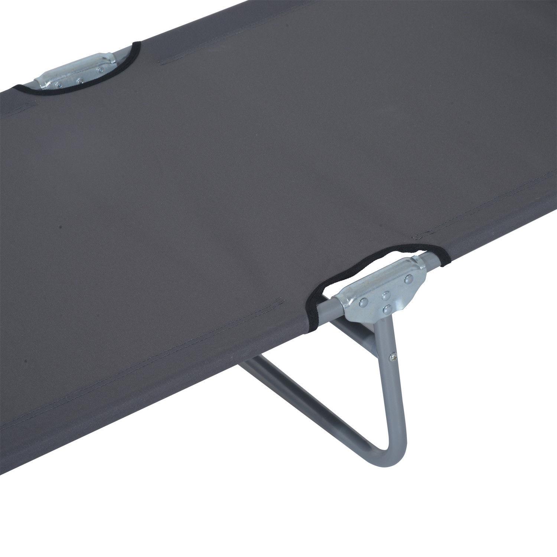 Tumbona-Inclinable-Aluminio-Plegable-Hamaca-Playa-Piscina-con-Parasol-NUEVO miniatura 12