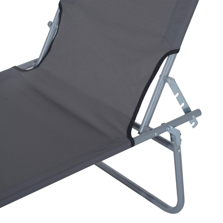 Tumbona-Inclinable-Aluminio-Plegable-Hamaca-Playa-Piscina-con-Parasol-NUEVO miniatura 9