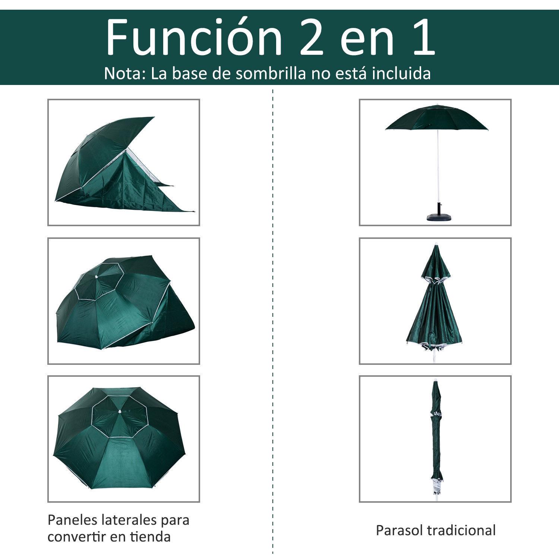Sombrilla-de-Playa-Portatil-con-Paravientos-Tienda-Camping-Parasol-Proteccion-UV miniatura 17