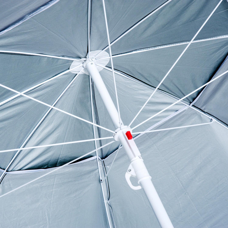 Sombrilla-de-Playa-Portatil-con-Paravientos-Tienda-Camping-Parasol-Proteccion-UV miniatura 23