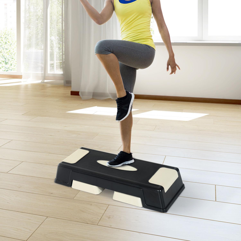 Step-Fitness-Tabla-Stepper-Aerobic-Deporte-Gimnasia-Altura-Regulable-3-Tipos-NUE