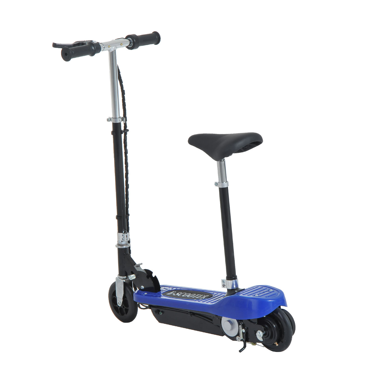 Patinete-Electrico-Plegable-E-Scooter-Bateria-120W-Manillar-Asiento-Ajustable miniatura 13