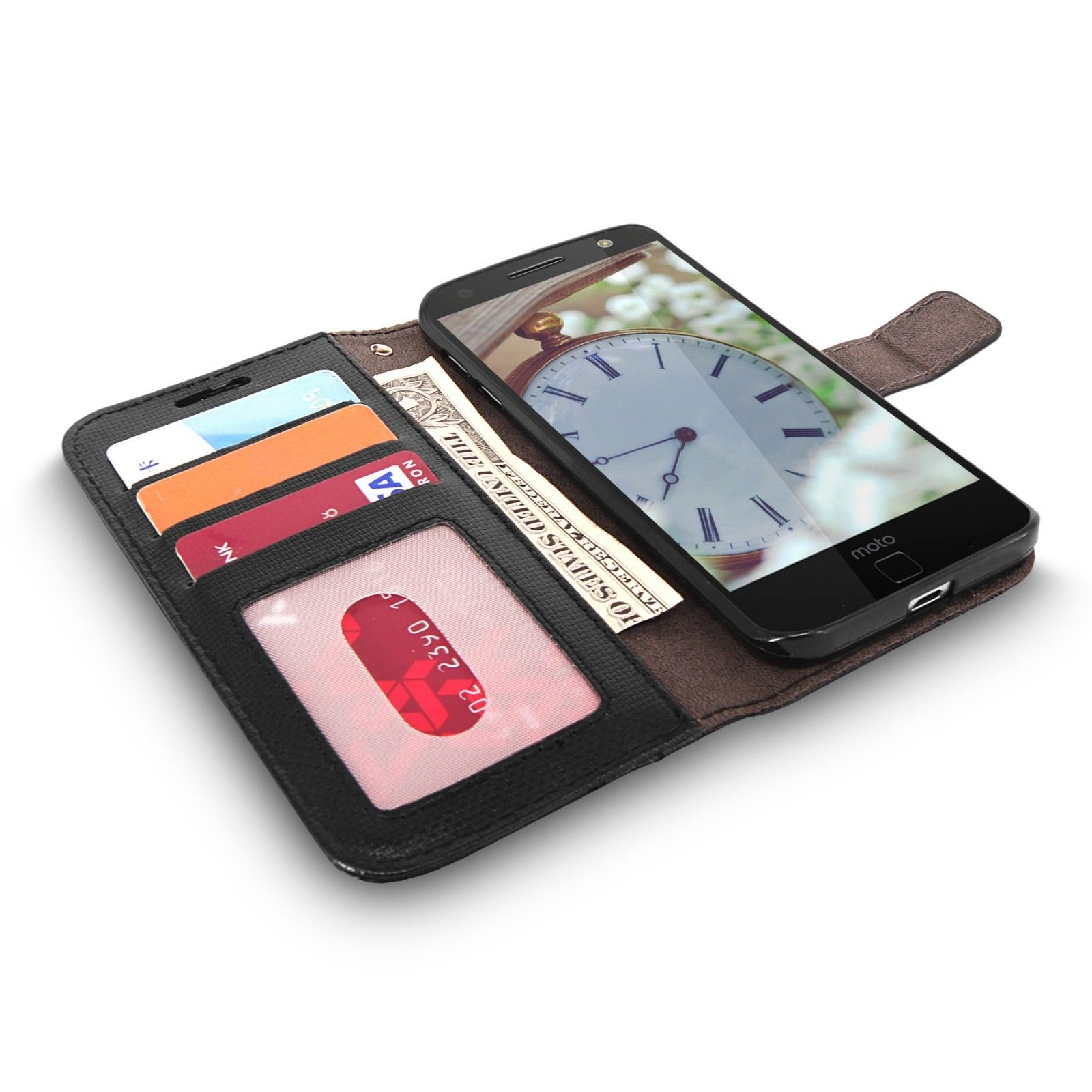 For-Motorola-Moto-Z-Force-Case-Luxury-Leather-Flip-Wallet-CardPocket-Stand-Cover