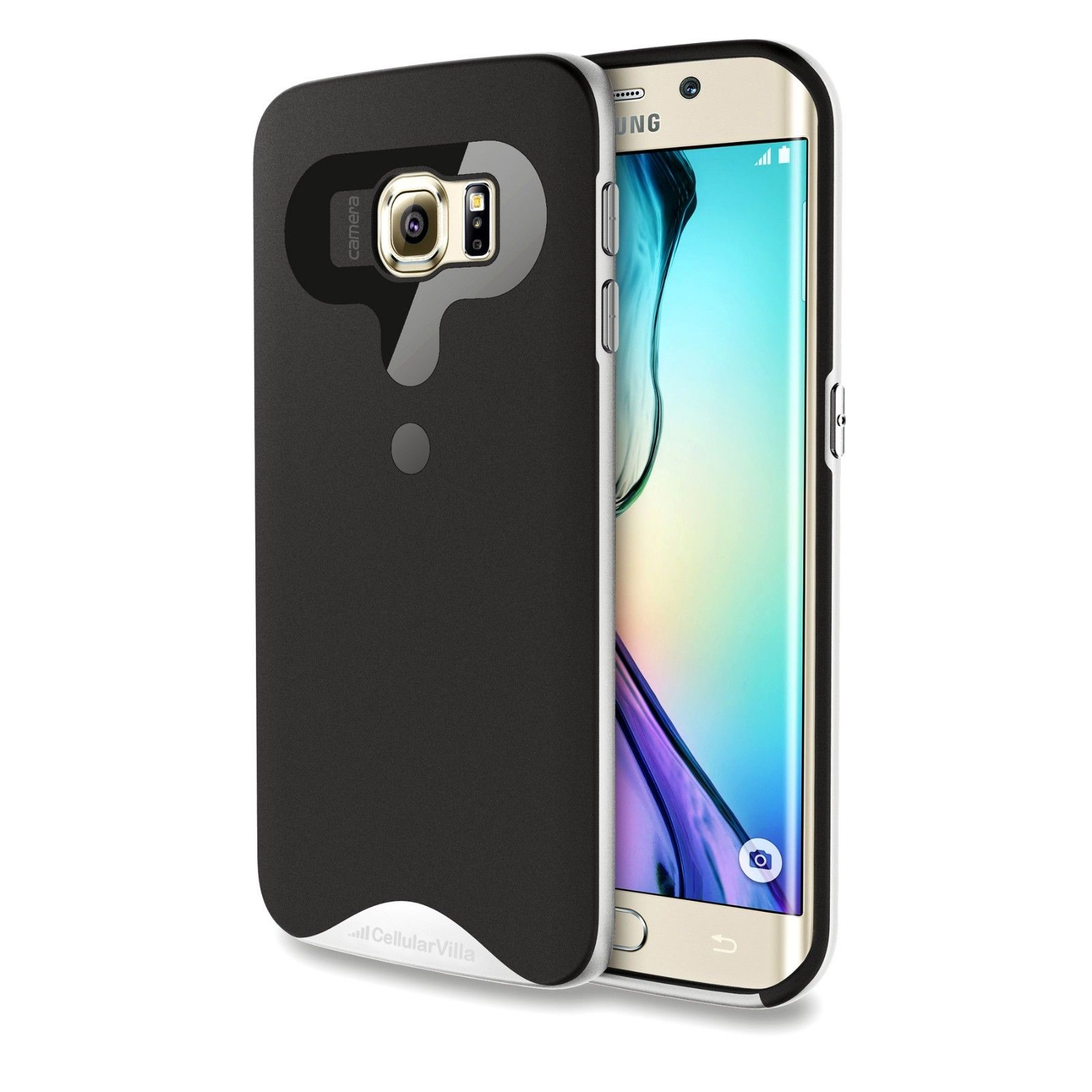 For Samsung Galaxy S6 Edge Hard Bumper Soft Back Phone ...