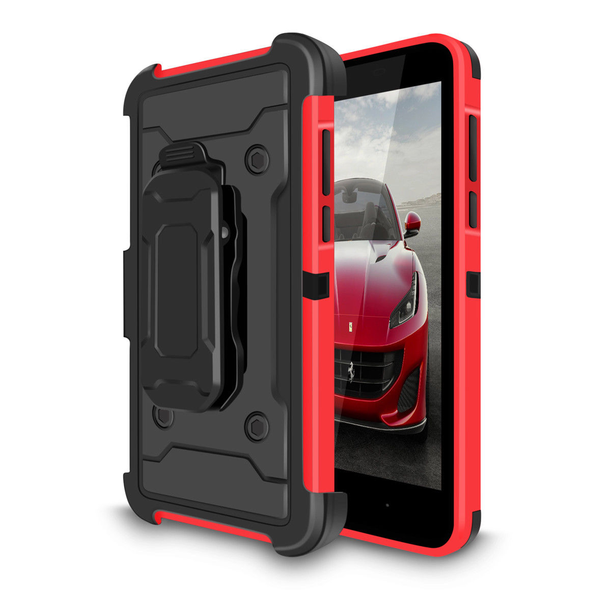 For-ZTE-Tempo-X-N9137-Heavy-Duty-Rugged-Belt-Clip-Case-Holster-Kickstand-Cover