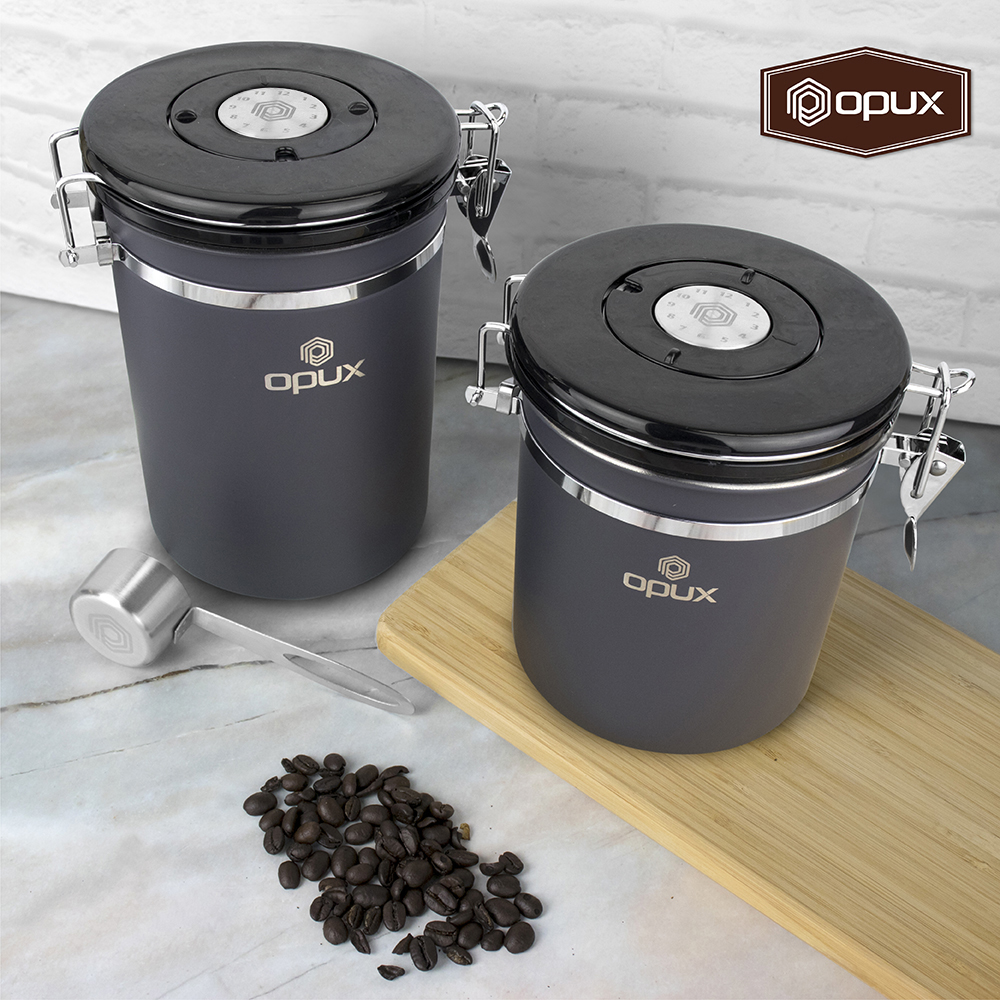 Stainless Steel Coffee Canister Vault Airtight Jar