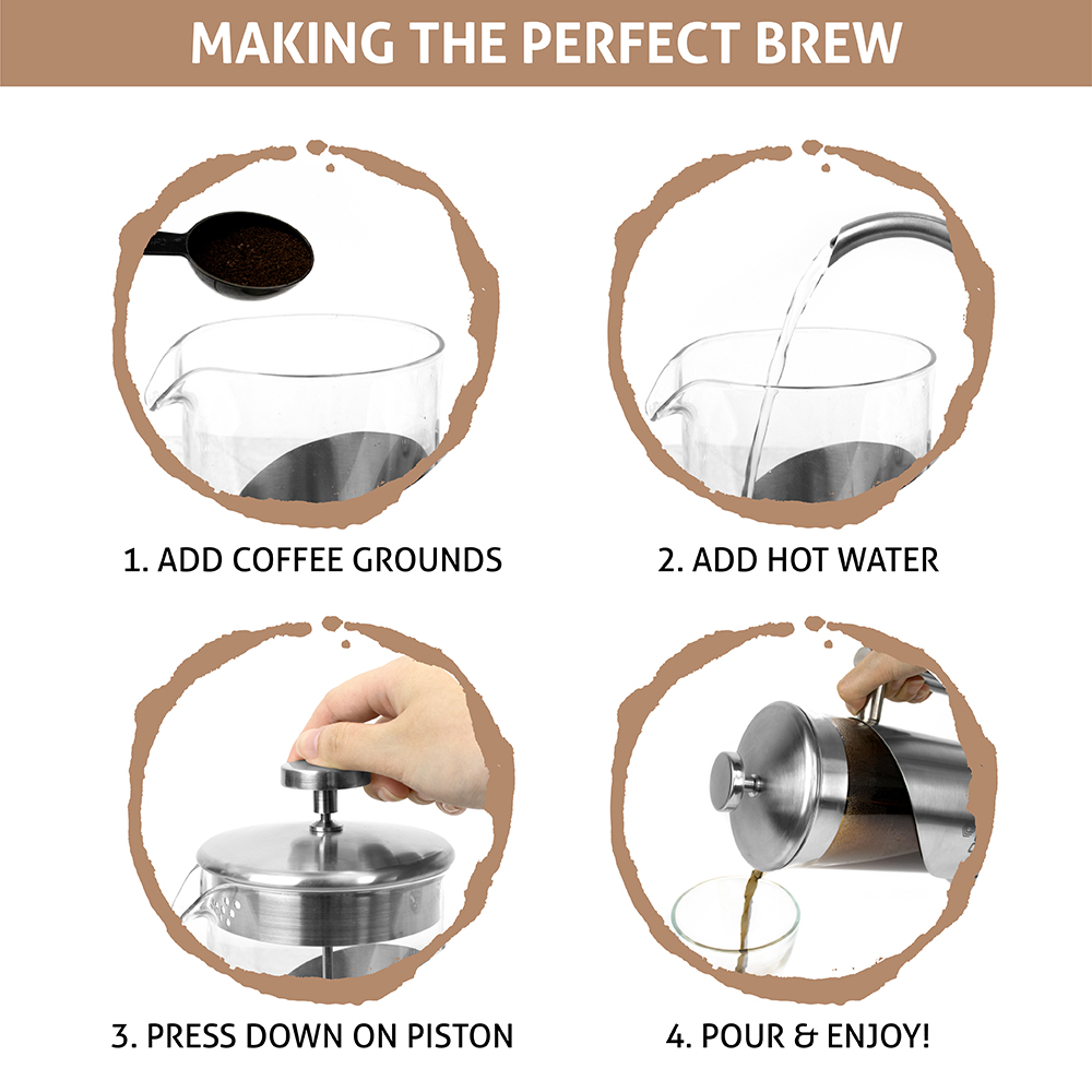 32oz-Insulated-Double-Wall-French-Press-Stainless-Steel-Pour-Over-Coffee-Maker thumbnail 15
