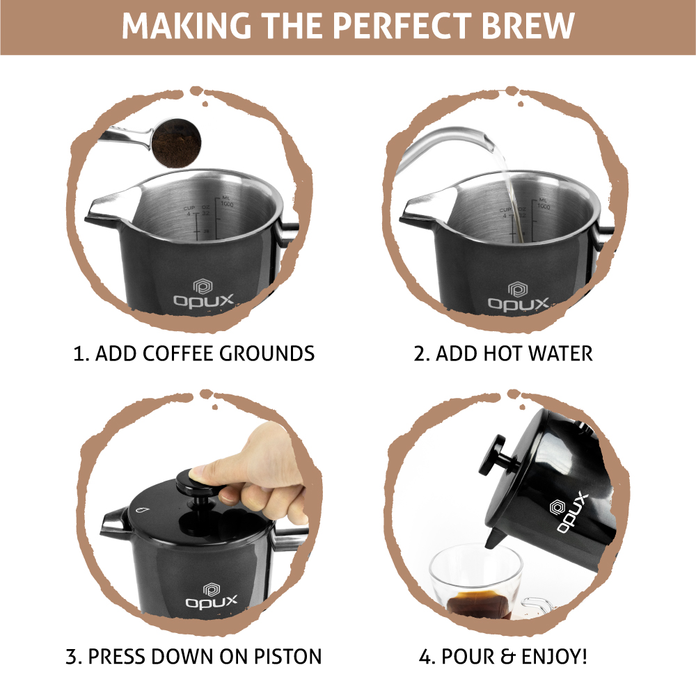 32oz-Insulated-Double-Wall-French-Press-Stainless-Steel-Pour-Over-Coffee-Maker thumbnail 9