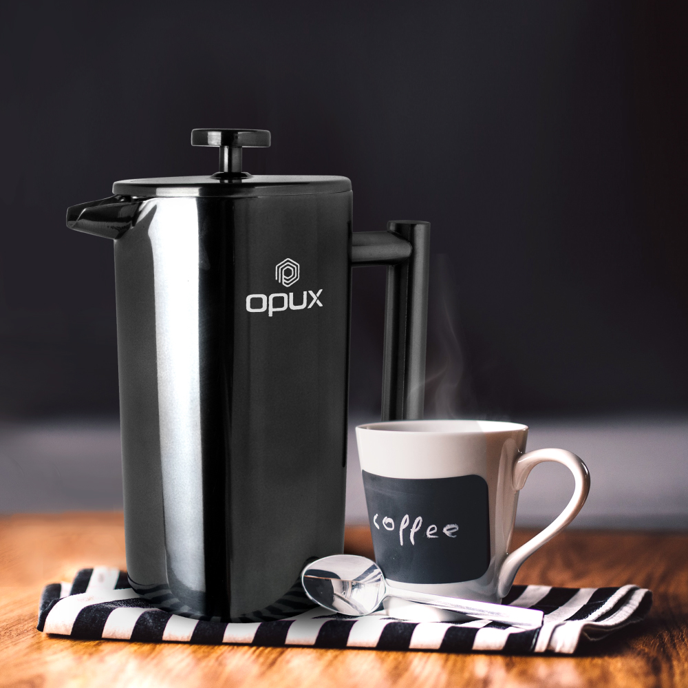 32oz-Insulated-Double-Wall-French-Press-Stainless-Steel-Pour-Over-Coffee-Maker thumbnail 11