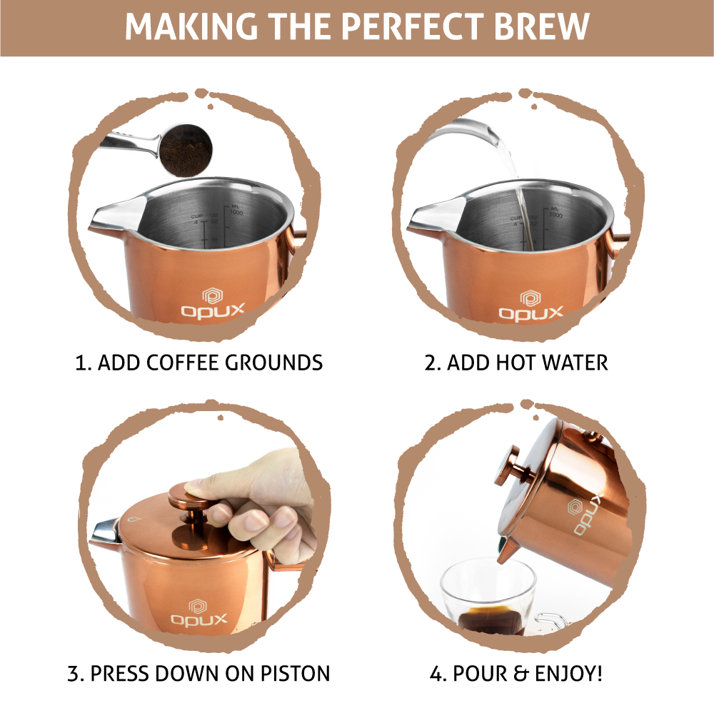 32oz-Insulated-Double-Wall-French-Press-Stainless-Steel-Pour-Over-Coffee-Maker thumbnail 21