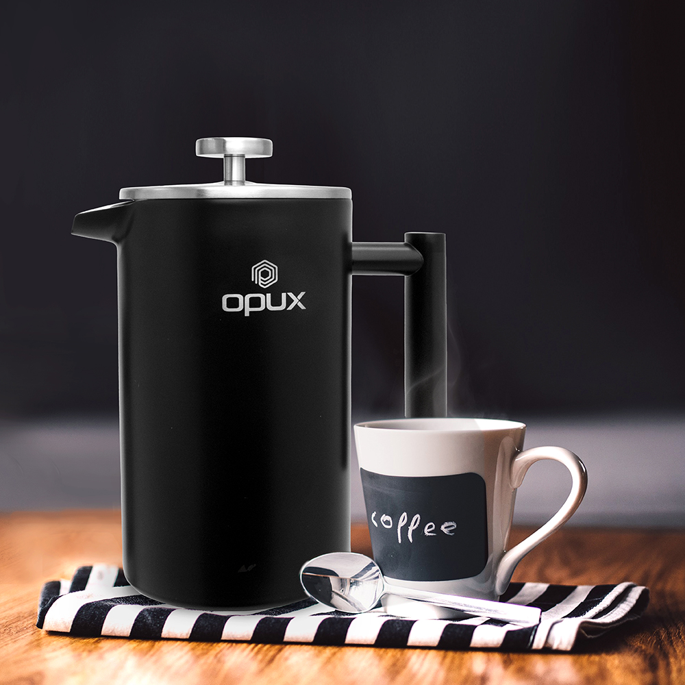 32oz-Insulated-Double-Wall-French-Press-Stainless-Steel-Pour-Over-Coffee-Maker thumbnail 29