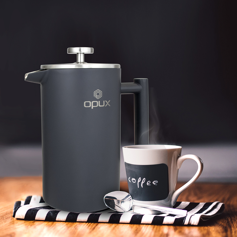 32oz-Insulated-Double-Wall-French-Press-Stainless-Steel-Pour-Over-Coffee-Maker thumbnail 35