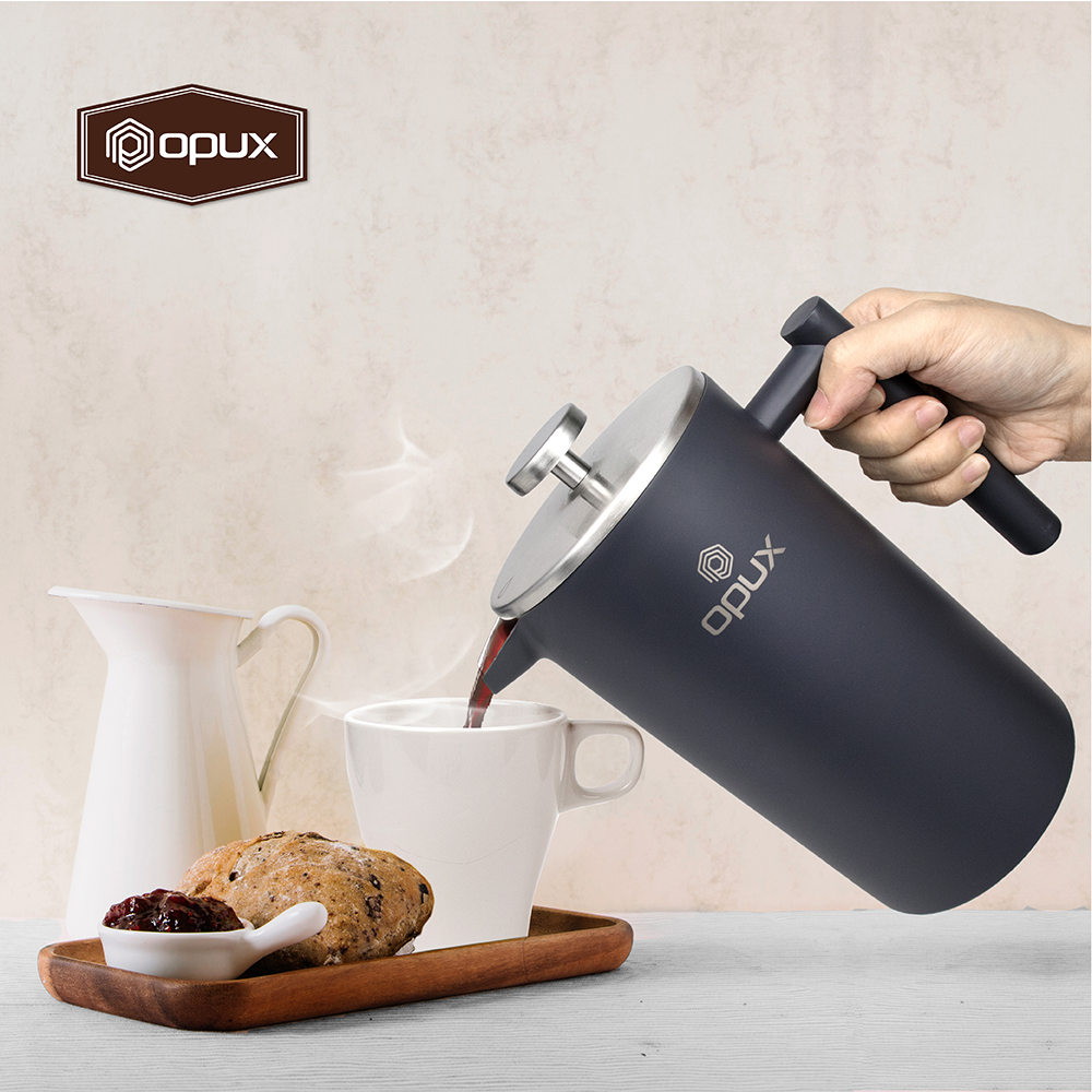 32oz-Insulated-Double-Wall-French-Press-Stainless-Steel-Pour-Over-Coffee-Maker thumbnail 36