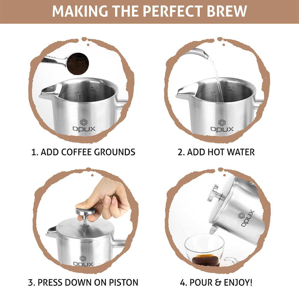 32oz-Insulated-Double-Wall-French-Press-Stainless-Steel-Pour-Over-Coffee-Maker thumbnail 39