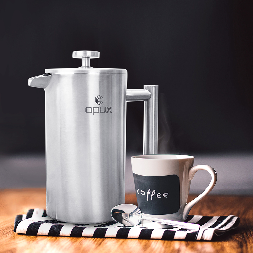 32oz-Insulated-Double-Wall-French-Press-Stainless-Steel-Pour-Over-Coffee-Maker thumbnail 41