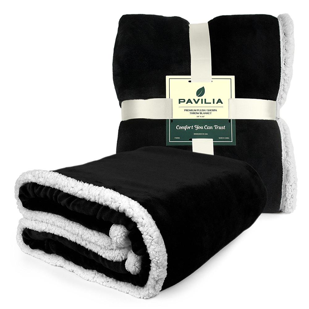 Sherpa-Blanket-Throw-Soft-Fleece-Reversible-Blanket-Sofa-Couch-Bed-Microfiber thumbnail 8