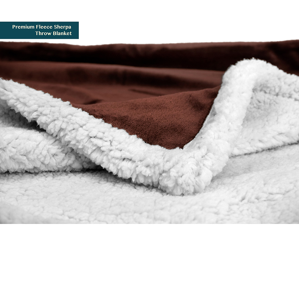 Sherpa-Blanket-Throw-Soft-Fleece-Reversible-Blanket-Sofa-Couch-Bed-Microfiber thumbnail 15