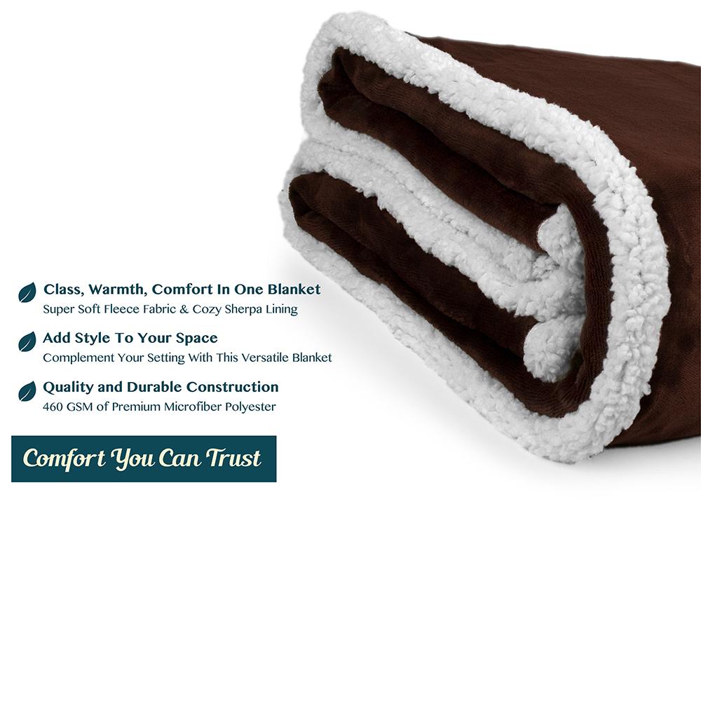 Sherpa-Blanket-Throw-Soft-Fleece-Reversible-Blanket-Sofa-Couch-Bed-Microfiber thumbnail 18