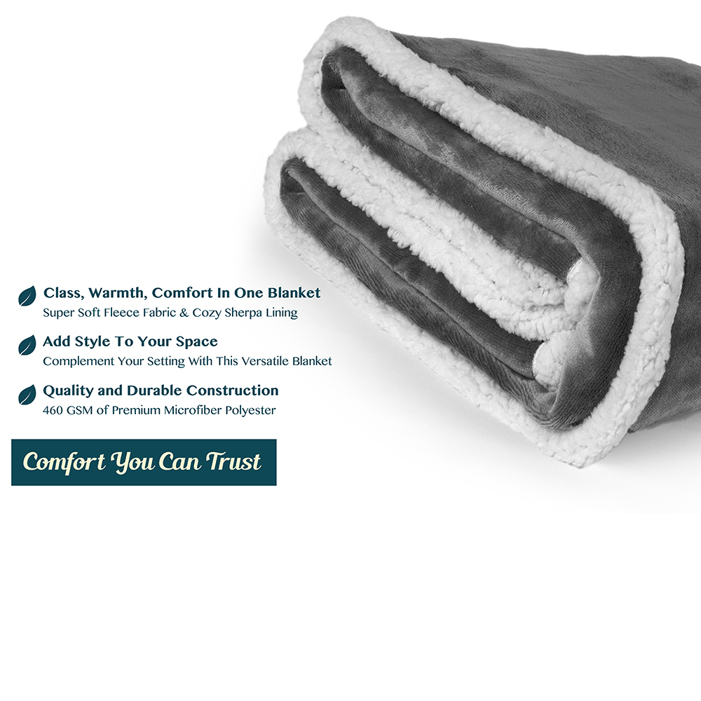 Sherpa-Blanket-Throw-Soft-Fleece-Reversible-Blanket-Sofa-Couch-Bed-Microfiber thumbnail 24