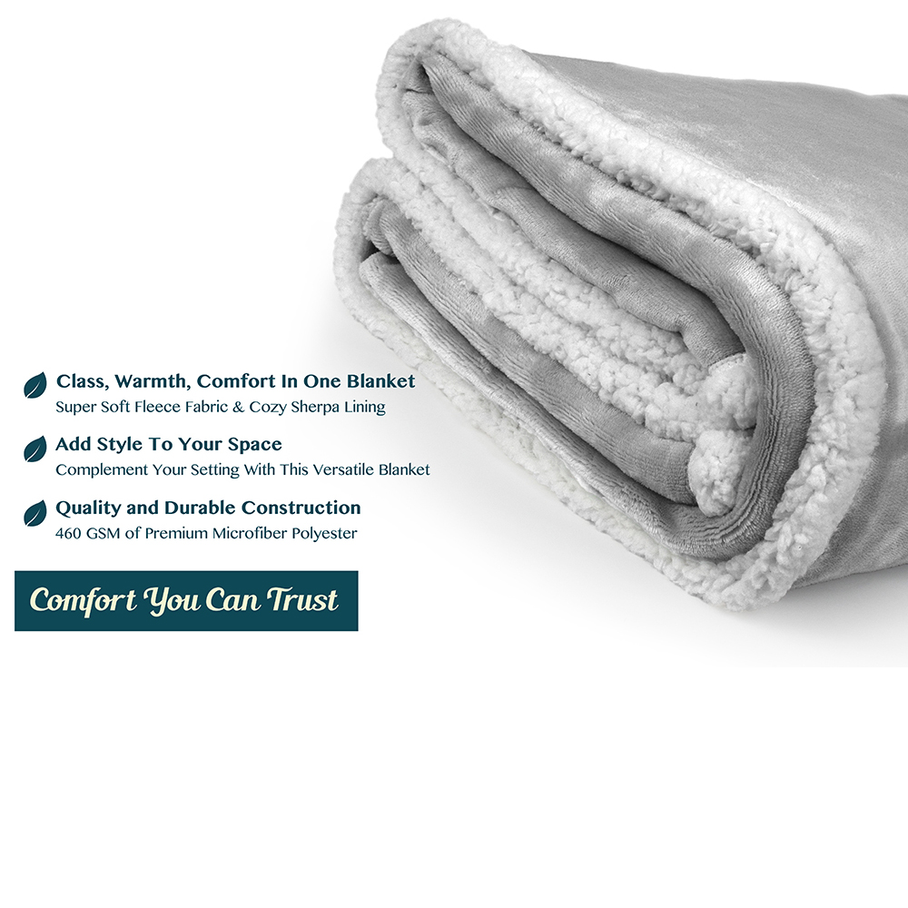 Sherpa-Blanket-Throw-Soft-Fleece-Reversible-Blanket-Sofa-Couch-Bed-Microfiber thumbnail 54