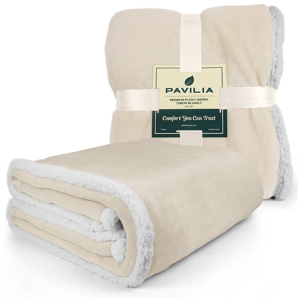 Sherpa-Blanket-Throw-Soft-Fleece-Reversible-Blanket-Sofa-Couch-Bed-Microfiber thumbnail 44