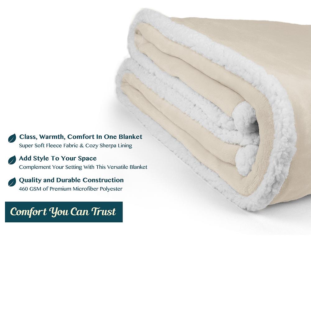 Sherpa-Blanket-Throw-Soft-Fleece-Reversible-Blanket-Sofa-Couch-Bed-Microfiber thumbnail 48