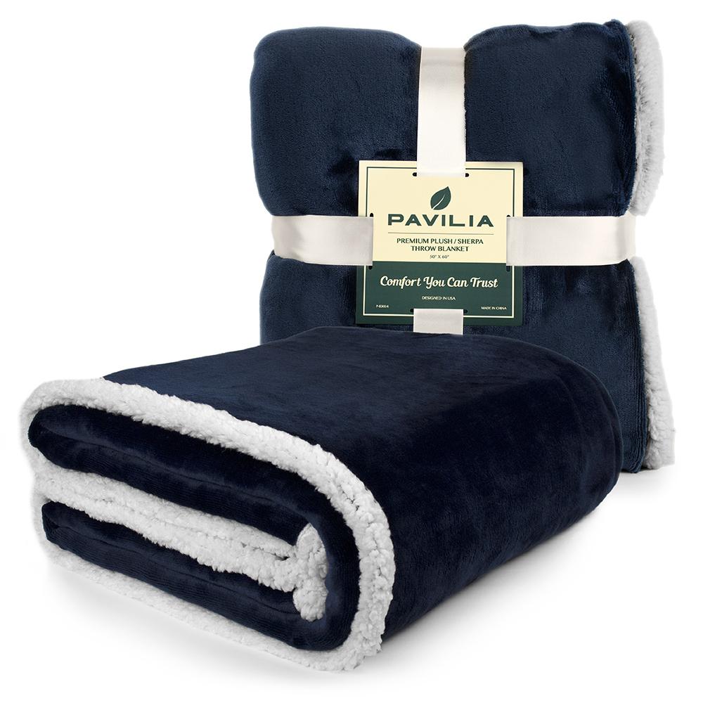Sherpa-Blanket-Throw-Soft-Fleece-Reversible-Blanket-Sofa-Couch-Bed-Microfiber thumbnail 56