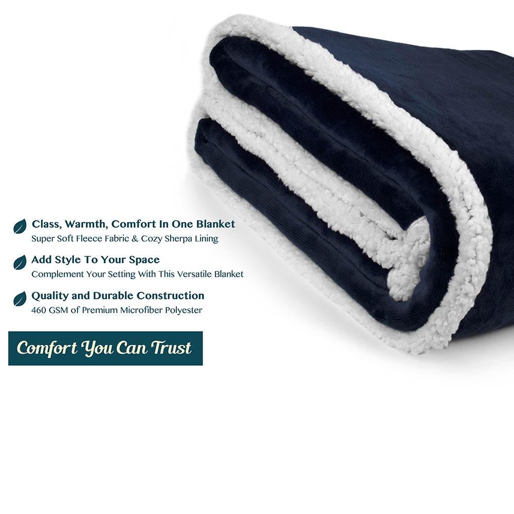 Sherpa-Blanket-Throw-Soft-Fleece-Reversible-Blanket-Sofa-Couch-Bed-Microfiber thumbnail 60