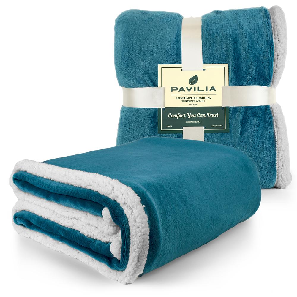 Sherpa-Blanket-Throw-Soft-Fleece-Reversible-Blanket-Sofa-Couch-Bed-Microfiber thumbnail 62