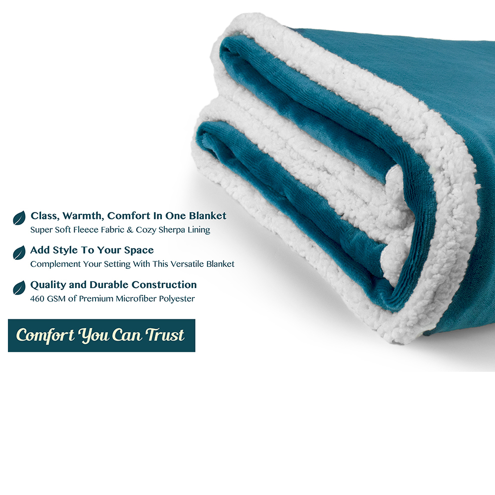 Sherpa-Blanket-Throw-Soft-Fleece-Reversible-Blanket-Sofa-Couch-Bed-Microfiber thumbnail 66