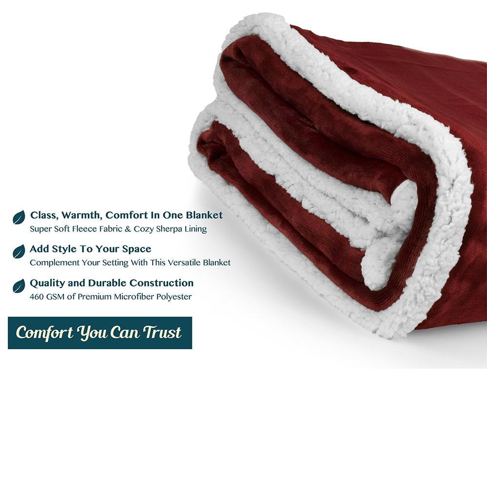 Sherpa-Blanket-Throw-Soft-Fleece-Reversible-Blanket-Sofa-Couch-Bed-Microfiber thumbnail 120