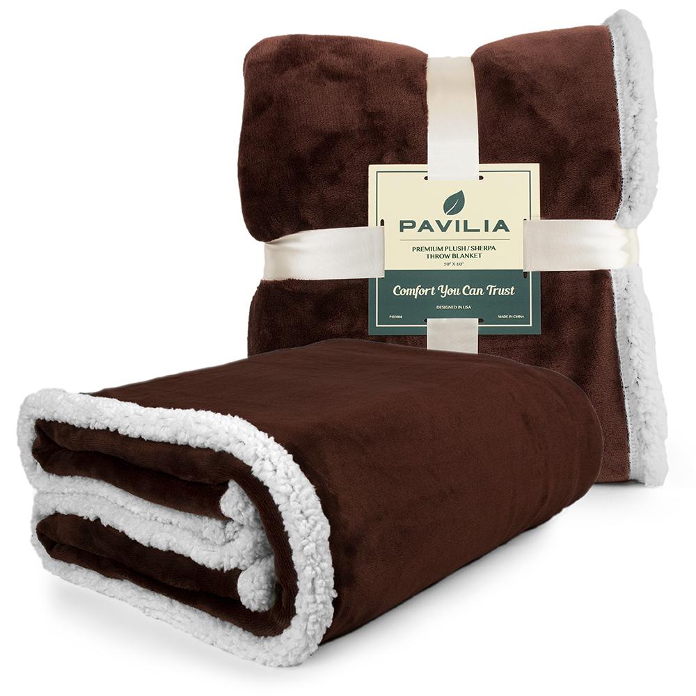 Sherpa-Blanket-Throw-Soft-Fleece-Reversible-Blanket-Sofa-Couch-Bed-Microfiber thumbnail 74