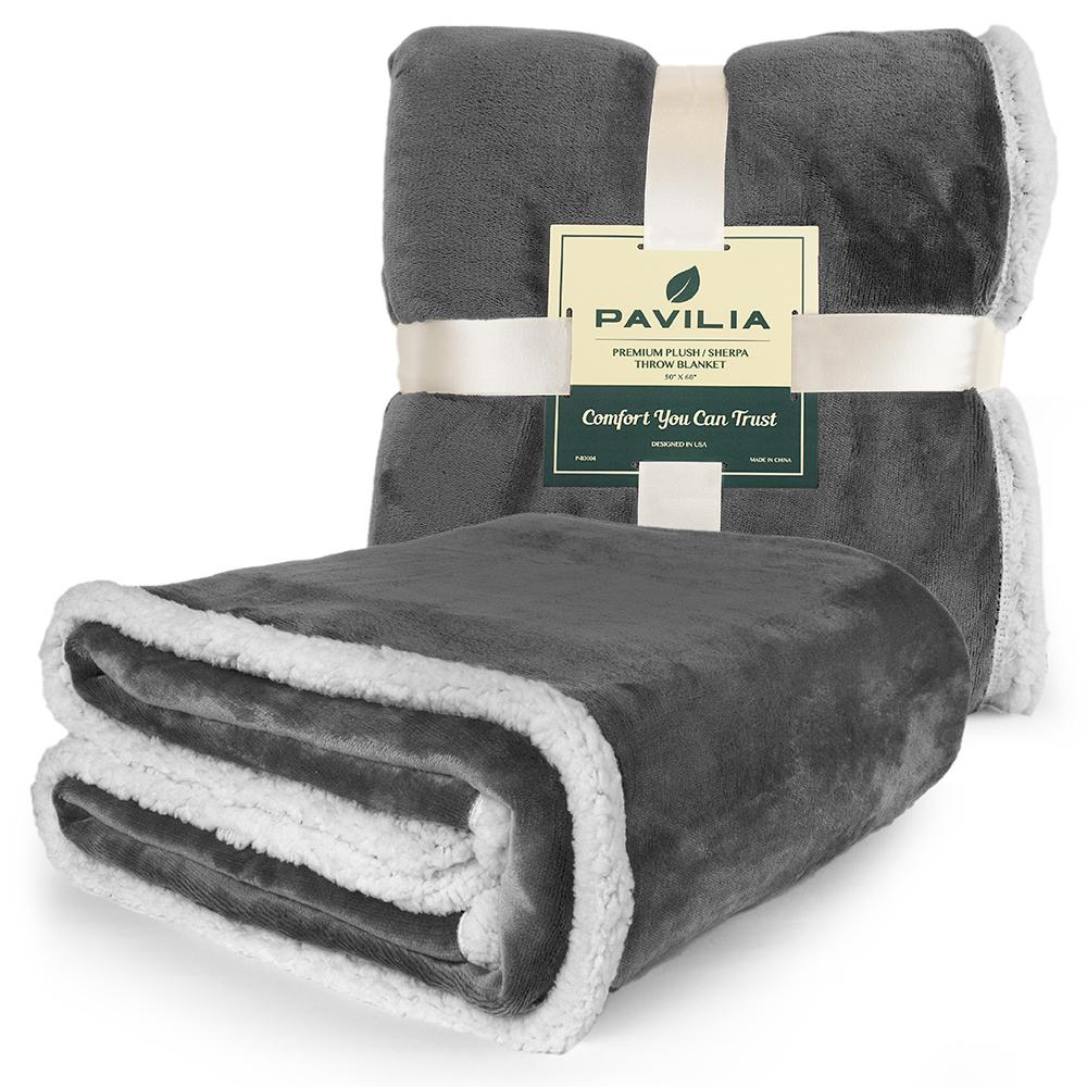 Sherpa-Blanket-Throw-Soft-Fleece-Reversible-Blanket-Sofa-Couch-Bed-Microfiber thumbnail 80