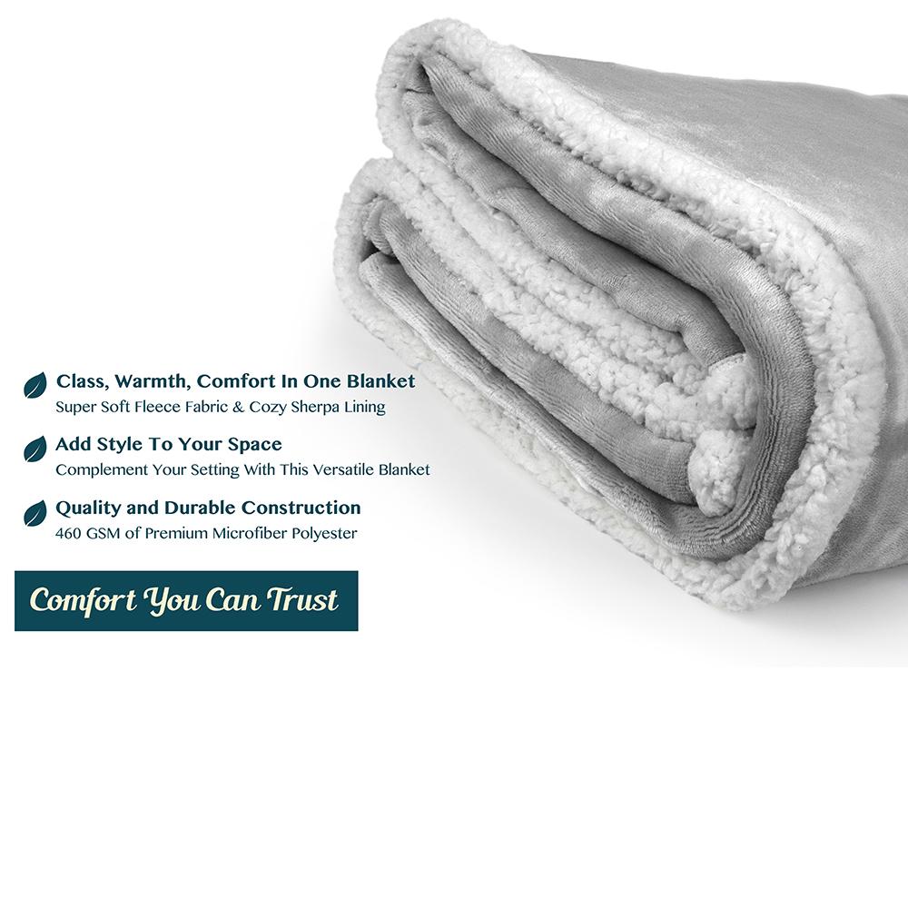 Sherpa-Blanket-Throw-Soft-Fleece-Reversible-Blanket-Sofa-Couch-Bed-Microfiber thumbnail 96