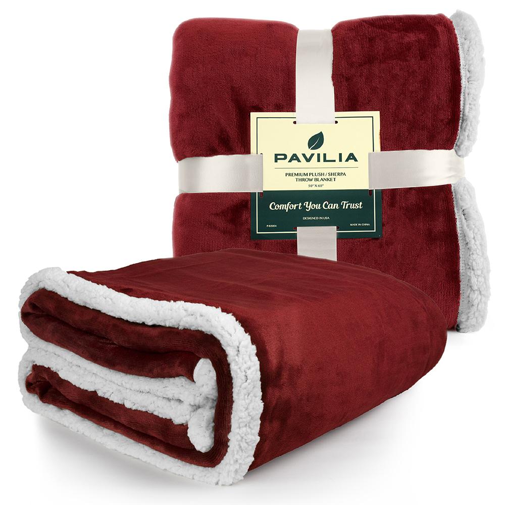 Sherpa-Blanket-Throw-Soft-Fleece-Reversible-Blanket-Sofa-Couch-Bed-Microfiber thumbnail 110