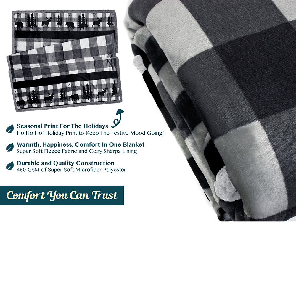 Sherpa-Blanket-Throw-Soft-Fleece-Reversible-Blanket-Sofa-Couch-Bed-Microfiber thumbnail 27
