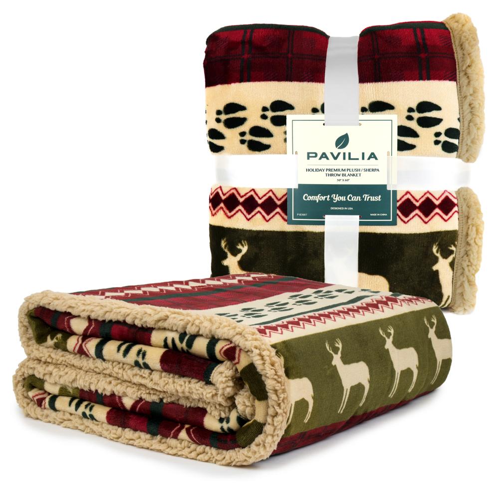 Sherpa-Blanket-Throw-Soft-Fleece-Reversible-Blanket-Sofa-Couch-Bed-Microfiber thumbnail 32