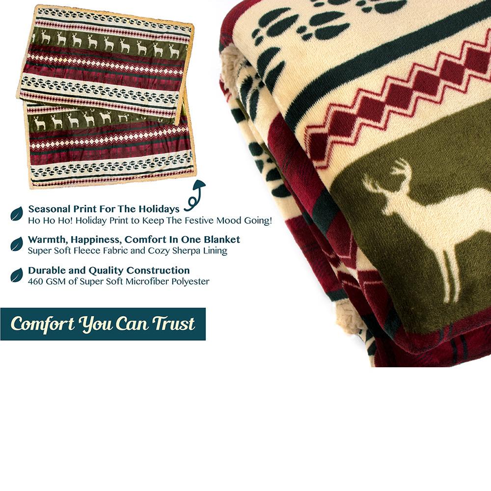 Sherpa-Blanket-Throw-Soft-Fleece-Reversible-Blanket-Sofa-Couch-Bed-Microfiber thumbnail 33