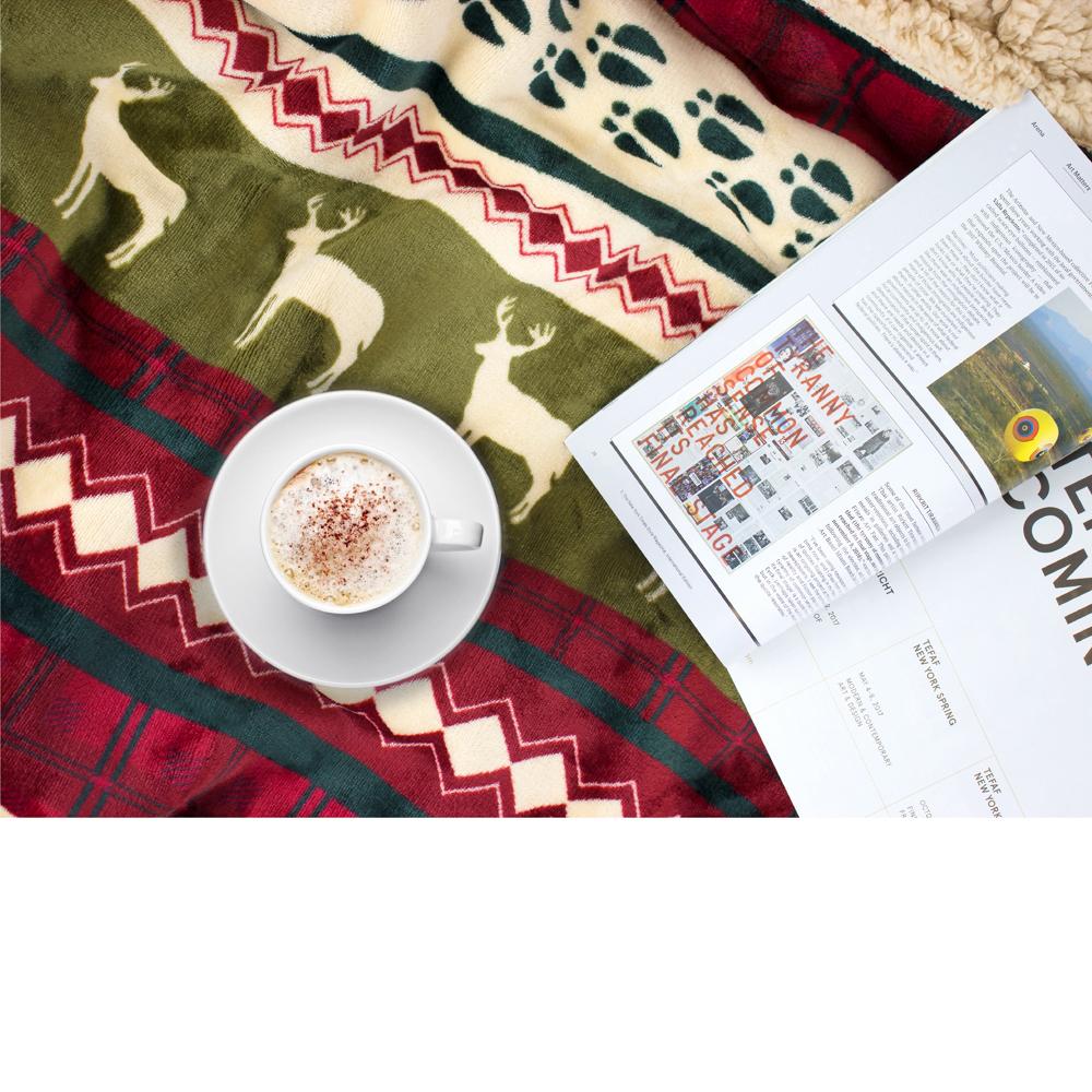 Sherpa-Blanket-Throw-Soft-Fleece-Reversible-Blanket-Sofa-Couch-Bed-Microfiber thumbnail 36