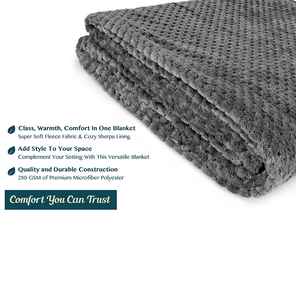 Throw-Blanket-for-Sofa-Couch-Bed-Lightweight-Microfiber-Polyester-Waffle-Pattern thumbnail 12