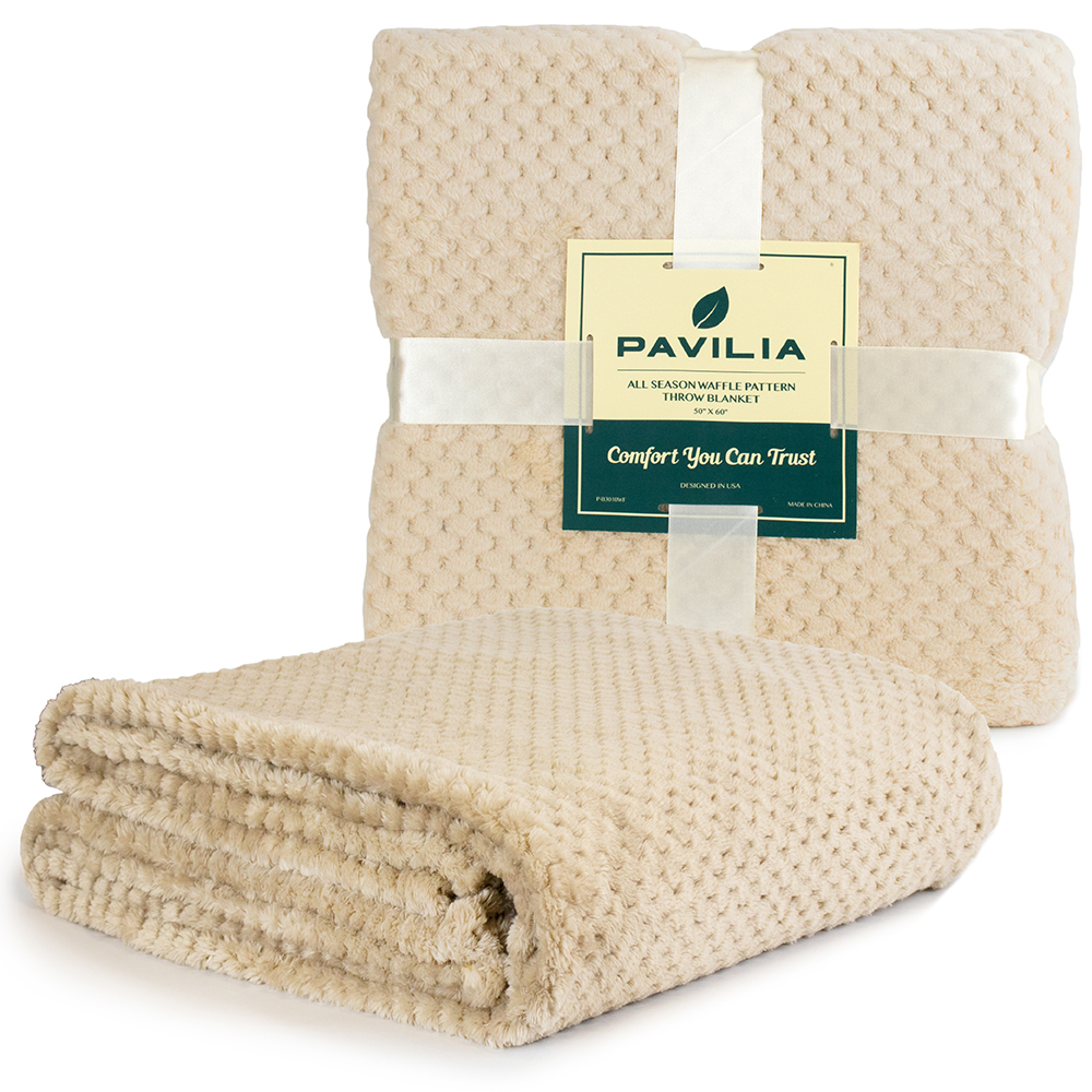 Throw-Blanket-for-Sofa-Couch-Bed-Lightweight-Microfiber-Polyester-Waffle-Pattern thumbnail 14
