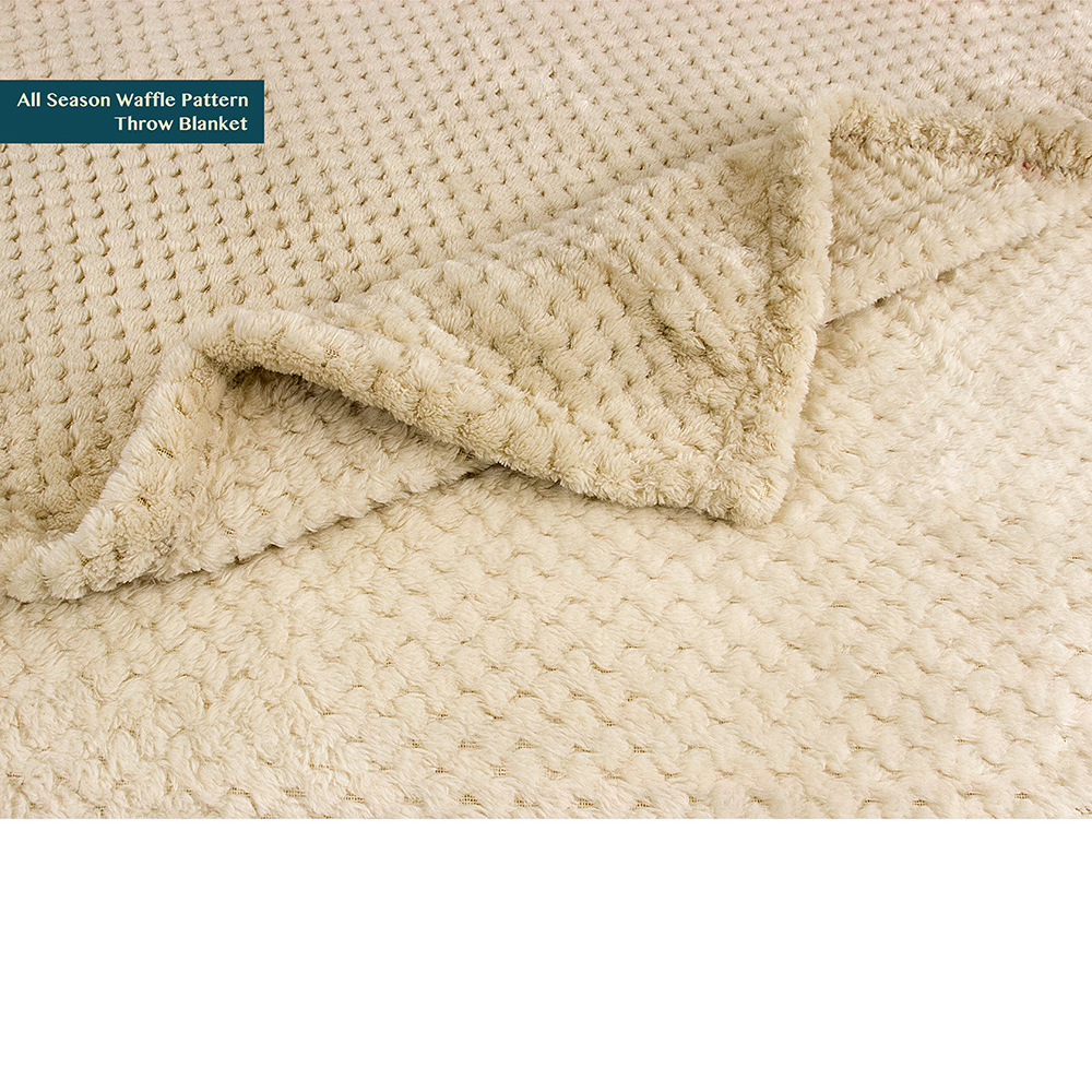 Throw-Blanket-for-Sofa-Couch-Bed-Lightweight-Microfiber-Polyester-Waffle-Pattern thumbnail 15