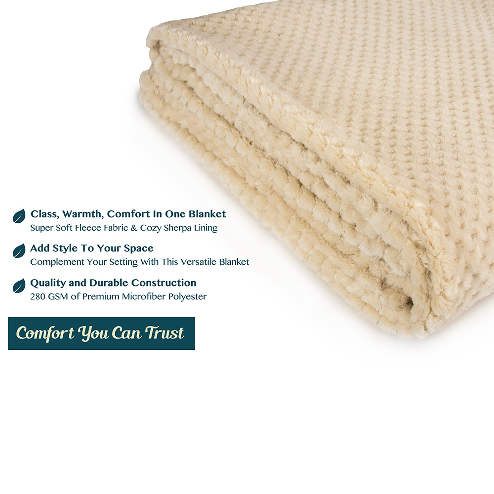 Throw-Blanket-for-Sofa-Couch-Bed-Lightweight-Microfiber-Polyester-Waffle-Pattern thumbnail 18