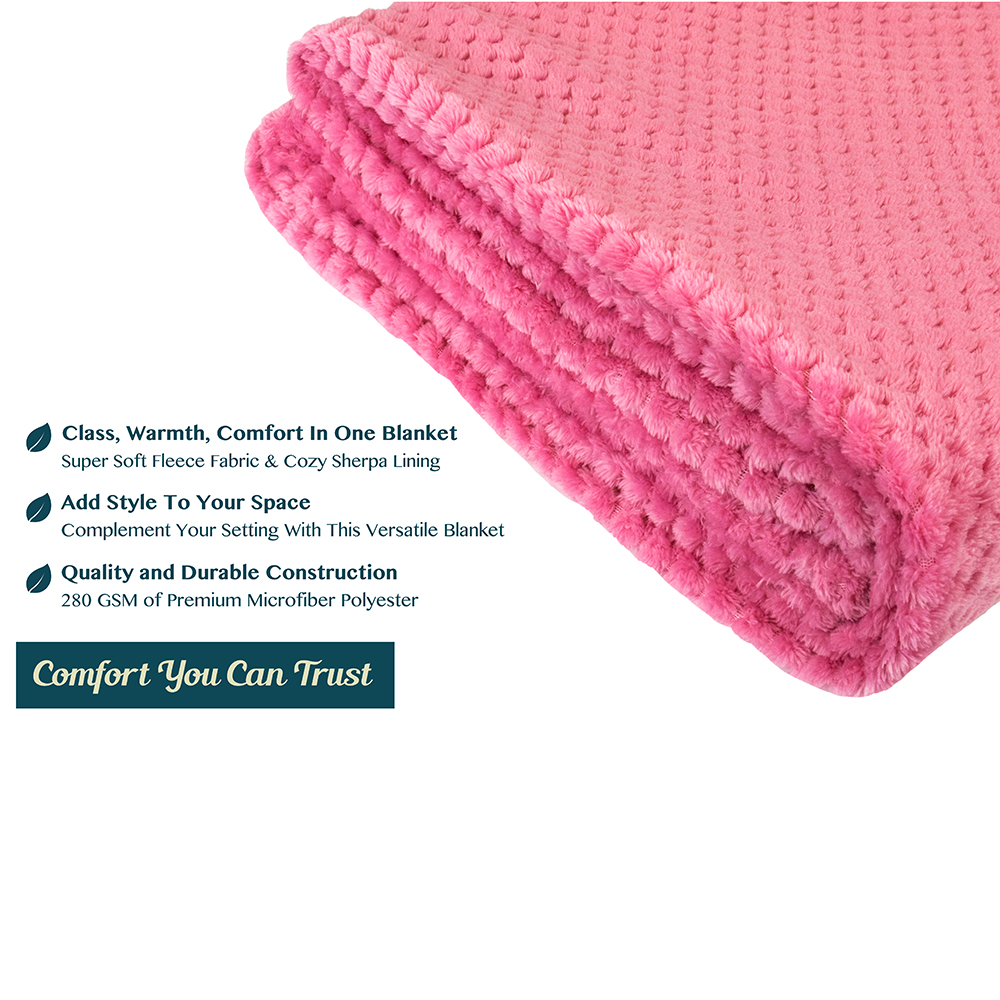 Throw-Blanket-for-Sofa-Couch-Bed-Lightweight-Microfiber-Polyester-Waffle-Pattern thumbnail 30