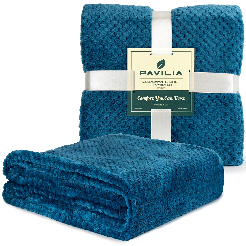 Throw-Blanket-for-Sofa-Couch-Bed-Lightweight-Microfiber-Polyester-Waffle-Pattern thumbnail 32
