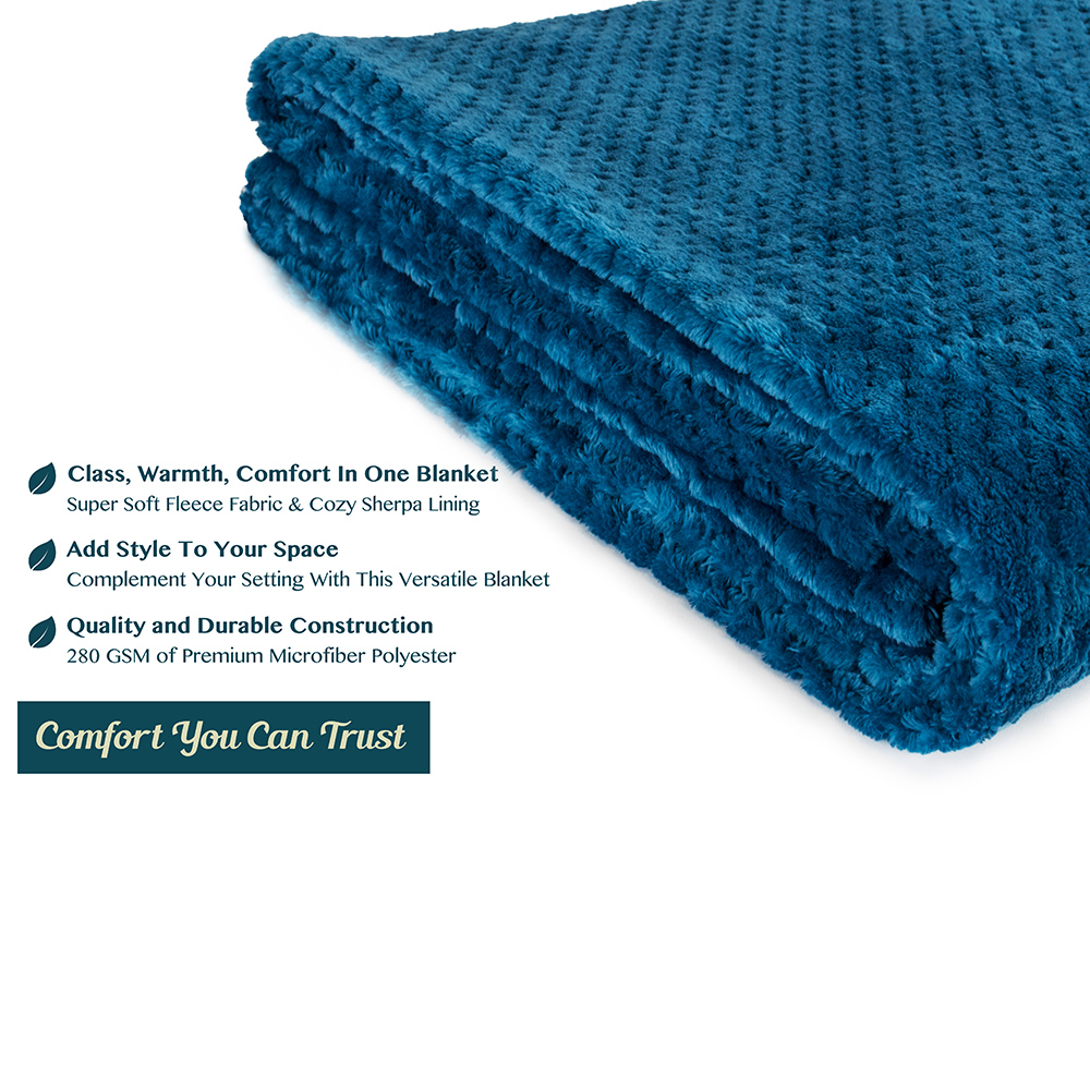 Throw-Blanket-for-Sofa-Couch-Bed-Lightweight-Microfiber-Polyester-Waffle-Pattern thumbnail 36
