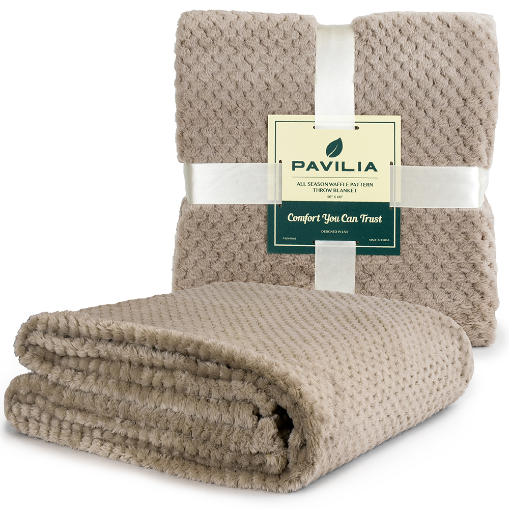 Throw-Blanket-for-Sofa-Couch-Bed-Lightweight-Microfiber-Polyester-Waffle-Pattern thumbnail 38