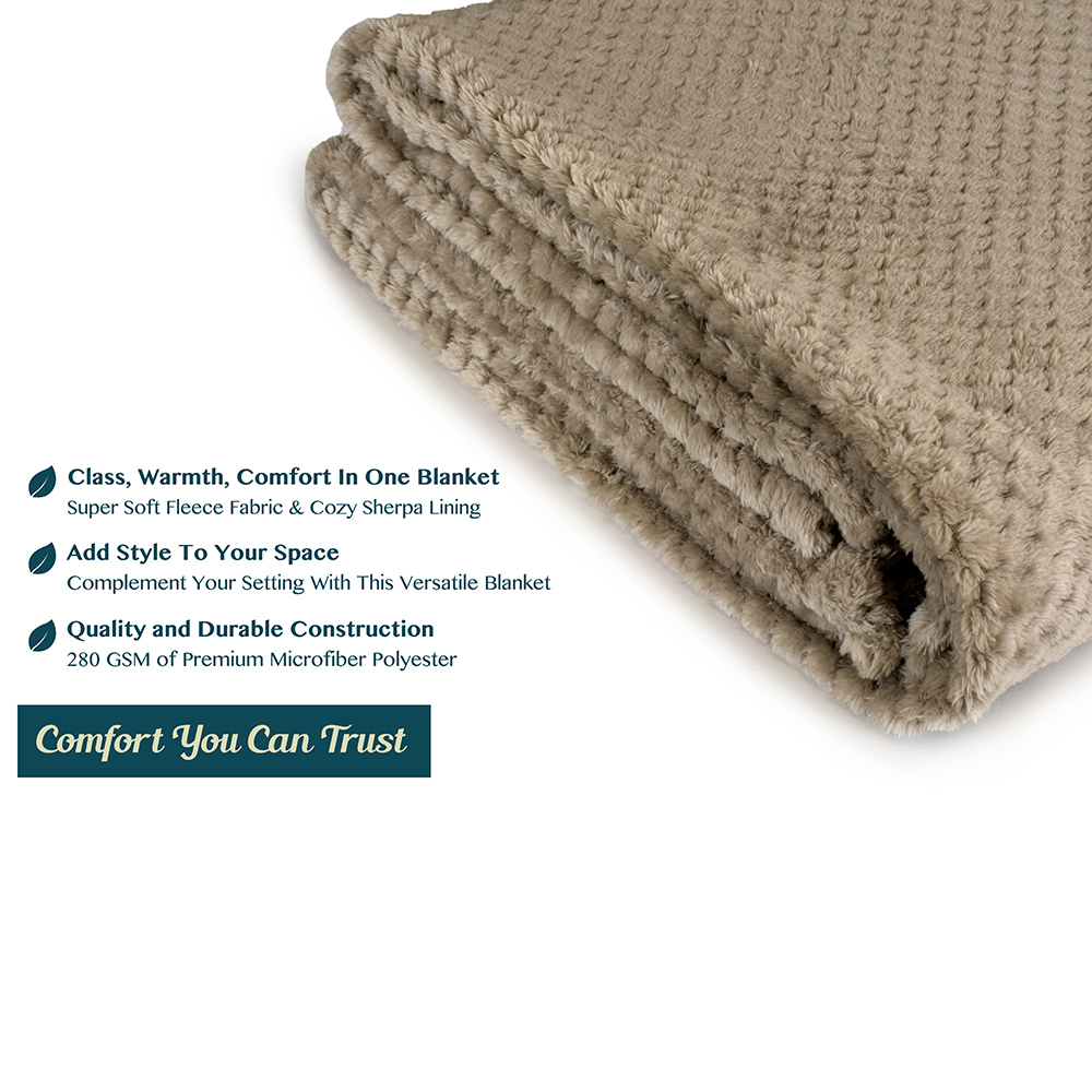 Throw-Blanket-for-Sofa-Couch-Bed-Lightweight-Microfiber-Polyester-Waffle-Pattern thumbnail 42