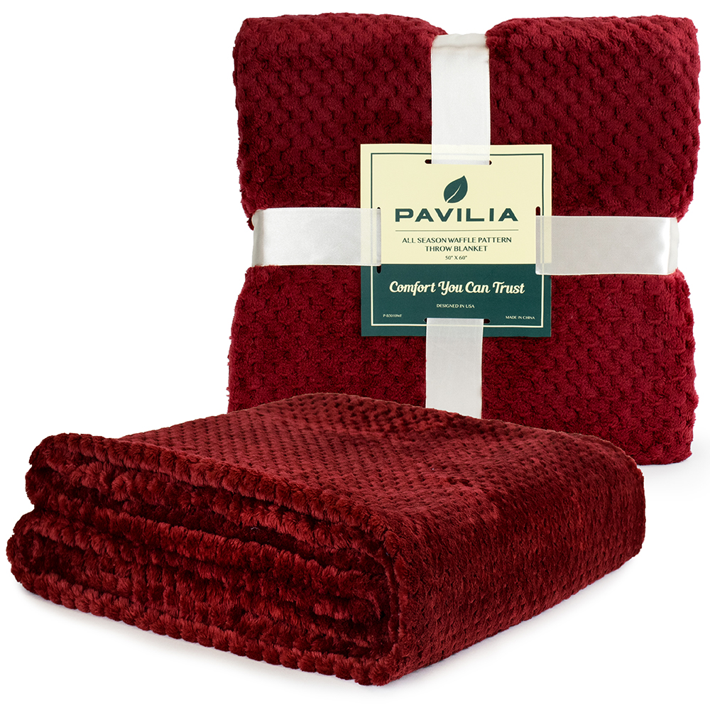 Throw-Blanket-for-Sofa-Couch-Bed-Lightweight-Microfiber-Polyester-Waffle-Pattern thumbnail 86